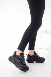 Riley Kadın Spor Ayakkabı - Siyah-7