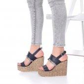 Marcella Dolgu Topuklu Ayakkabı - 11cm, Siyah, Beyaz-2