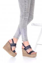 Marcella Dolgu Topuklu Ayakkabı - 11cm, Siyah, Beyaz-8