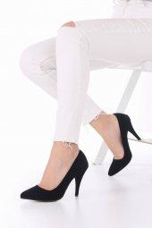 Tilda Stiletto Topuklu Ayakkabı Süet -Siyah, Krem, Kırmızı, 10cm-7