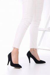 Tilda Stiletto Topuklu Ayakkabı Süet -Siyah, Krem, Kırmızı, 10cm-8