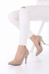 Tilda Stiletto Topuklu Ayakkabı Süet -Siyah, Krem, Kırmızı, 10cm-11