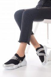 Kelsey Kadın Spor Ayakkabı - Siyah, Gri-9