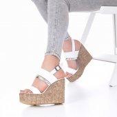 Marcella Dolgu Topuklu Ayakkabı - 11cm, Siyah, Beyaz-3