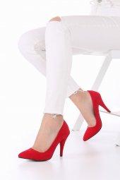 Tilda Stiletto Topuklu Ayakkabı Süet -Siyah, Krem, Kırmızı, 10cm-9