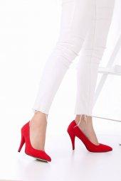 Tilda Stiletto Topuklu Ayakkabı Süet -Siyah, Krem, Kırmızı, 10cm-10