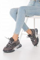 Alfreda Kadın Spor Ayakkabı - Şeffaf Taban, Gri, Siyah-7