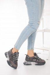 Alfreda Kadın Spor Ayakkabı - Şeffaf Taban, Gri, Siyah-8