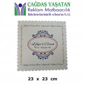 Karton Pasta Altlığı Beyaz 23 X 23 (100 Adet) 048
