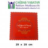 Karton Pasta Altlığı Kırmızı 25 X 25 (100 Adet) 051