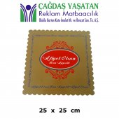 Karton Pasta Altlığı Kahverengi 25 X 25 (100 Adet) 054