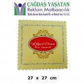 Karton Pasta Altlığı Sarı 27 X 27 (100 Adet) 056
