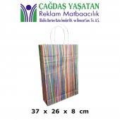 Büyük Boy Uzun Kağıt Çanta (100 Adet) 063