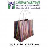 Orta Boy Geniş Kağıt Çanta (100 Adet) 062