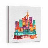 Tabrika Berlin İllüstrasyon Almanya Kanvas Tablo
