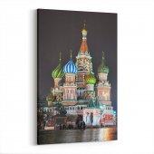 Tabrika Moskowa Saint Basil Katedrali Kanvas Tablo
