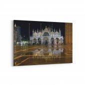 Tabrika San Marco Bazilikası Venedik Kanvas Tablo