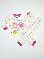 Kız Bebek Baykuş Modelli Pijama Takımı 4 6 Yaş Pembe C66748 4