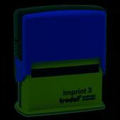ımprınt 3 Kaşe 58 X 22 Mm. Mavi