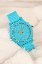 Mavi Renk Silikon Bayan Saat