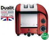 Dualit 2 Hazneli Classic 27031 El Yapımı Kırmızı Rengi Ekmek Kızartma Makinesi