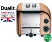 Dualit 2 Hazneli Classic 27390 El Yapımı Bakır Rengi Ekmek Kızartma Makinesi