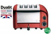 Dualit 4 Hazneli Classic 47031 El Yapımı Kırmızı Rengi Ekmek Kızartma Makinesi