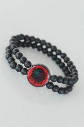 Kırmızı Renkli Metal Üzerine Osmanlı Arma...