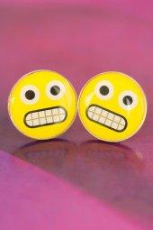 Emoji Tasarımlı Sarı Yuvarlak Kızgın İfade...