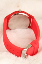Kırmızı Renk Silikon Bayan Saat-2