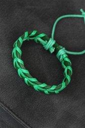 Yeşil Renk Deri Erkek Bileklik