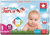 Baby Turco Bebek Bezi Jumbo Beden 1 (2 5kg) Yeni Doğan 60 Adet