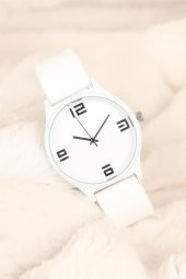 Beyaz Silikon Bayan Saat