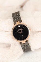 Clariss Marka Füme Renk Hasır Metal Kordonlu Bayan Saat