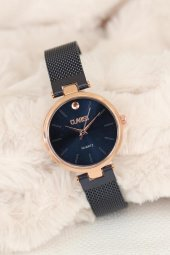 Clariss Marka Lacivert Renk Hasır Metal Kordonlu Bayan Saat