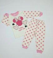 Kız Bebek Miki Mouselu Pijama Takımı 1 3 Yaş Pembe C70840 17