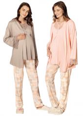 Fc Fantasy Somon Lohusa Uzun Kol Sabahlıklı Pijama Takımı 1060s