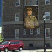 üniformalı Atatürk Poster Cephe Bayrak 300x450cm 3x4,5 Metre