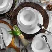 Kütahya Porselen İnci 24 Parça 6 Kişilik Yemek Takımı