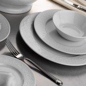 Kütahya Porselen Açelya 24 Parça 6 Kişilik Yemek Takımı