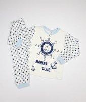 Erkek Bebek Gemi Dümeni Modelli Pijama Takımı 4 6 Yaş Lacivert C66748 6