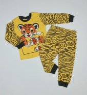 Erkek Bebek Aslanlı Pijama Takımı 1 3 Yaş Sarı C70840 12