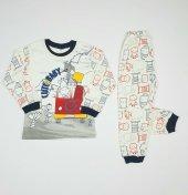 Erkek Bebek Cute Baby Yazılı Pijama Takımı 4-6 Yaş Lacivert - C66748-3