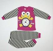 Kız Erkek Bebek Minik Kurbağa Modelli Pijama Takımı 1 3 Yaş Pembe C70840 10