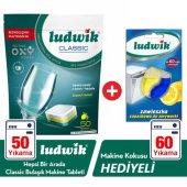 Ludwik Classic Bulaşık Makine Tableti 50 Yıkama Li �monlu