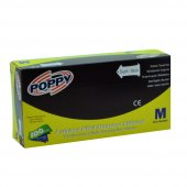 Poppy Pudrasız Nitril Siyah Eldiven Medium...
