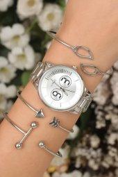 Şık Doğum Günü Hediyesi Kadın Saat Kol Saati Bayan Saat Bileklik Saat Kombin