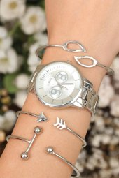 Şık Doğum Günü Hediyesi Kadın Saat Kol Saati Bayan Saat Bileklik Saat Kombin-2