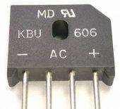 KBU6M  ( 6A Tarak Tipi Diod)(25 ADET)