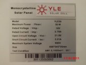 18 Volt 50Watt Solarcell Solar Güneş Paneli-3